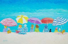 Breezy Summer's Day - beach painting  #beachart  #beachdecor #beachhousedecor