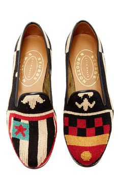 Stubbs &Wootton Embroidered Slippers