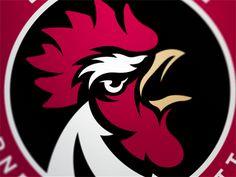 Cockerell by Fraser Davidson Rooster Tattoo, Rooster Logo, Hahn Tattoo, Fantasy Football Logos, Cartoon Rooster, Chicken Logo, Figure Sketching, Logo Design, Graphic Design
