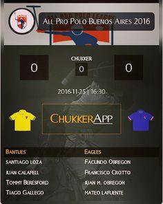 Foto: #Formaciones 1er partido, 2da #fecha de +All Pro Polo League #Allpropolobuenosaires2016 Sigue el resultado de este partido, desde tu dispositivo móvil, con nuestra app, +ChukkerApp... Gratis!