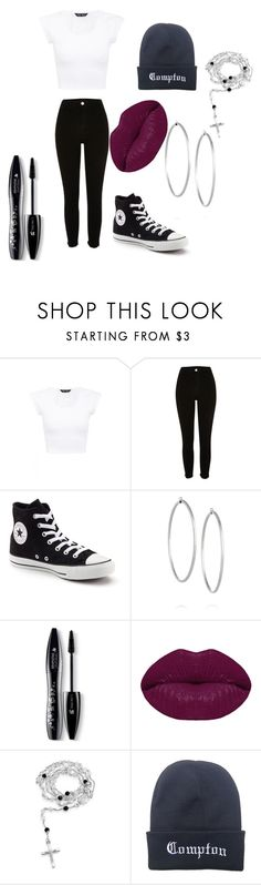 """Chola inspired outfit"" by noelani-143 on Polyvore featuring River Island, Converse, Jennifer Fisher, Lancôme, Winky Lux and Bling Jewelry"