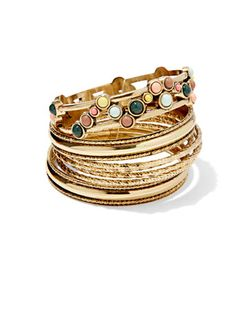 Shop Eva Mendes Collection - Goldtone Bangle Set . Find your perfect size online at the best price at New York & Company.