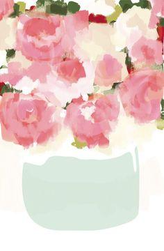 Peonies in Vase. Kelli Hall