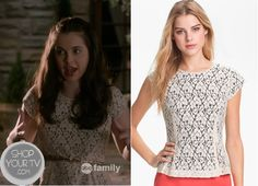Shop Your Tv: Switched at Birth: Season 2 Episode 13 Bay's Lace Overlay Peplum Top
