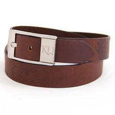 Kansas Jayhawks NCAA Brandish Leather Belt Size 44