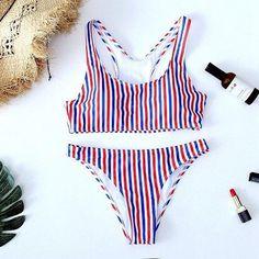 7b2fc3024d 2018 Dot Leopard Print Swimwear Women Bikini Woman New Summer swim Sexy  Swimsuit Strapless Bikini set Bathsuit