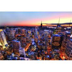 Educa - Puzzle 3000 pièces - Tombée du jour sur Manhattan, New York - Rue des Puzzles