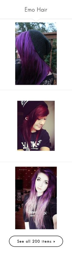 """""""Emo Hair"""" by falloutromanceandthecellabration ❤ liked on Polyvore featuring beauty products, haircare, hair styling tools, hair, people, girls, scene hair, hair styles, indie hair and pictures"""