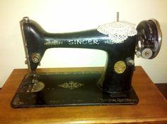 Antique Singer sewing machine found at a thrift store.