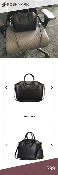 Givenchy antigona inspired bag Black with gold hardware. Made of real leather. Inspired by the small size antigona bag from givenchy but doesn't have the brand name. Dimensions can be found on picture. Purchased this year in 2017 and gently used . A video can be found on YouTube https://youtu.be/8iuxOMr0Dwo fashiondrug Bags Satchels