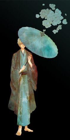 Tetsuya Kuroko was dressed in a Yukata \\ Kiseki no Sedai, KnB, Kuroko no Baske