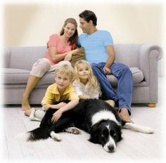 family and dog
