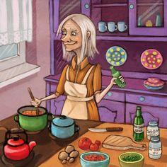 Witch is cooking a potion, Marzena Stanislawska on ArtStation at https://www.artstation.com/artwork/6d6ZO