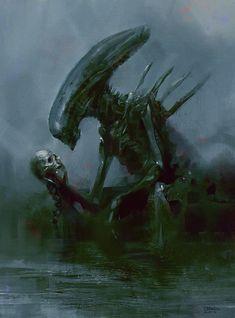 R.I.P. Giger by MrDream on deviantART #biomechanoid #xenomorph #alien #hrgiger #giger