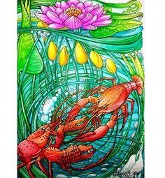 Manic Botanic - 24 Lobster  Derwent Inktense