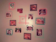 Washi Tape Photo Wall