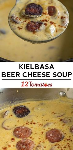 Kielbasa and Beer Cheese Soup