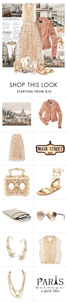"""Main Street Paris"" by summersunshinesk7 ❤ liked on Polyvore featuring WALL, Silvana, Patrizia Pepe, Valentino, Dolce&Gabbana, Loeffler Randall, Alaïa, Ross-Simons, Miu Miu and Karl Lagerfeld"