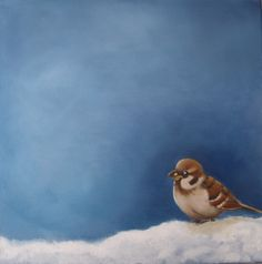 Sparrow in the snow 2
