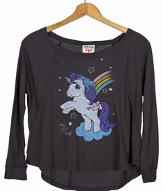 Kids Charcoal My Little Pony Slouch T-Shirt from Junk Food My Little Pony Clothes, 80s Girl Toys, T Shirty, Vintage Tee Shirts, 80s Outfit, Junk Food Clothing, Vintage Cartoon, Fleece Hoodie, Aesthetic Clothes