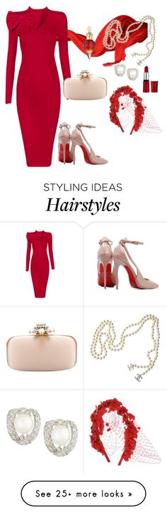 """Posh Lady I Red"" by poshgirlus on Polyvore featuring Posh Girl, Oscar de la Renta, Chanel, Belpearl and Eugenia Kim"