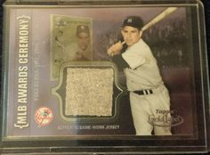 SOLD!! Yogi Berra Topps Gold Label Baseball Card with Authentic Game Worn Jersey ACR YB…