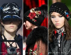 Fall/ Winter 2015-2016 Headwear Trends: Embellished Hats  #hats #headwear #trends