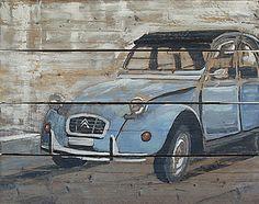 """""""Eend"""" acryl op gebruikt steigerhout, 100x80cm http://www.facebook.com/dirkveldmanschilderijen"""