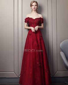7cb16be451d6ae Off The Shoulder Elegant Formal Evening Dress Prom Dress Backless Lace  Burgundy Bridesmaid Dresses 2018 Empire