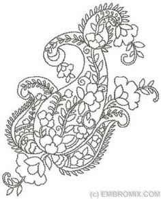 Paisley Pattern Design | Ornaments - Paisley Patterns - Paisley Pattern - Embroidery Designs at ...