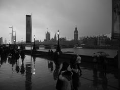 Pouring it down in London
