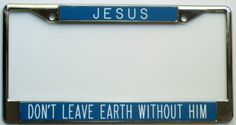 All About Signs 2 Jesus is Coming Soon License Frame Metal Engraved Background Black