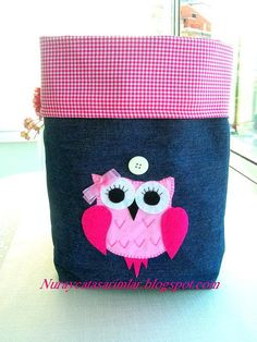 Applique Owl Bag by Myworlds on Etsy, $20.00