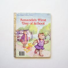 A Little Golden Book Amanda's First Day of by MyForgottenTreasures, $3.00