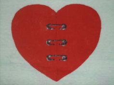 AmorShirts Safety Pin Heart Tshirt 3XL #AmorShirts