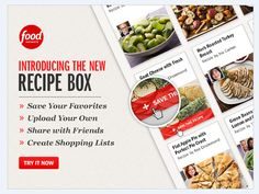 Introducing Recipe Box - FoodNetwork.com's newest tool!