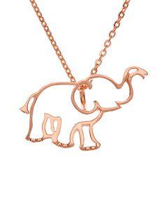 Rose Gold Plated elephant pendant. I NEED