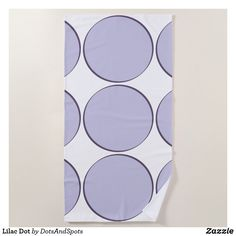 Lilac Dot Beach Towel