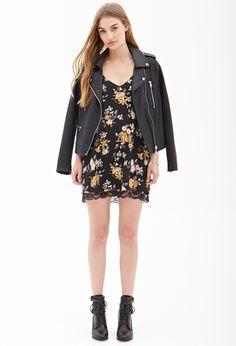 Floral & Lace Slip Dress #OOTD