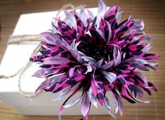 Magenta flower flower brooch black and fuchsia by VarVaraMay