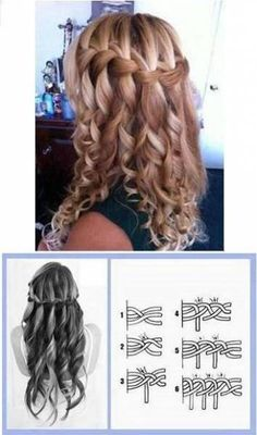 Stilvolle lockige Frisuren sind immer aufregend, heute werde ich 5 Stylish teilen – Haare Stylish curly hairstyles are always exciting, today I will share 5 Stylish – Hair – Pretty Hairstyles, Girl Hairstyles, Braided Hairstyles, Wedding Hairstyles, Curly Haircuts, Hairstyles Videos, Bridesmaid Hairstyles, Easy Hairstyle, Latest Hairstyles