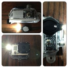 DIY GoPro Light.  Velcro and a keychain LED with permanent on/off switch.