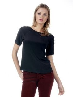 Twelfth Street by Cynthia Vincent Mesh Raglan Top in Black A basic top-we don't think so. This Twelfth Street Mesh Raglan Top in Black is stunning. Black raglan top features 3/4 sleeves, fabric dots down the sleeves and a surprising circle mesh back and button keyhole closure. Perfect for all your bright or metallic skirts this holiday season. Shell 1: 100% Silk Shell 2: 89% Nylon 11% Spandex Dry Clean Imported