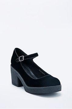 Out From Under Kiki Velvet Mary Jane Shoes in Velvet