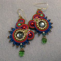 Soutache earrings,♡ via Flickr.