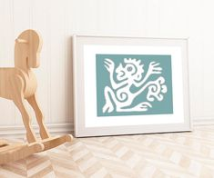 Tribal monkey printable for kids room decor. By Colors for Nuna