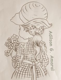 Arte * Vida: Menina de Costas com Flores