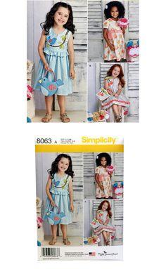 Vestido patrón chicas monedero patrón pájaro por UpstairsAttic