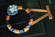 DoorToYou: auburn door wreath