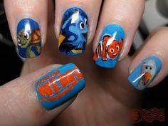 """""""In my spare time, I paint realistic representations of Pixar characters onto my nails.  ... What do you mean, hobbies?"""""""